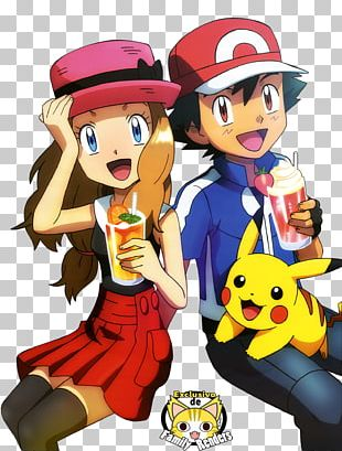 Pokémon X And Y Ash Ketchum Serena Pikachu Clemont PNG