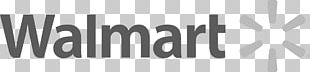 Logo Walmart Brand Black And White PNG
