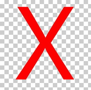 Red X Letter Computer Icons PNG