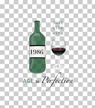 White Wine Glass Bottle Dessert Wine Red Wine PNG