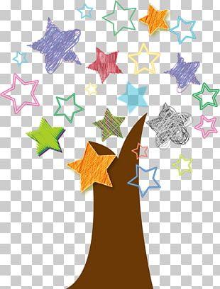 Star Tree Material PNG