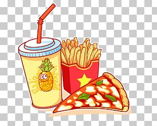 French Fries Hamburger Juice Cola Junk Food PNG