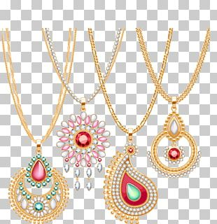 Gold Necklace Jewellery Chain PNG