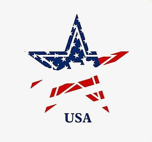 Shading American Flag Five-pointed Star PNG