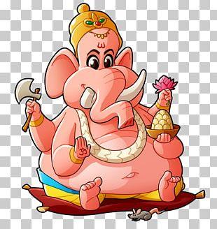 Ganesha Ganesh Chaturthi Cartoon Drawing Sketch PNG