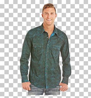 Long-sleeved T-shirt Denim Snap Fastener PNG