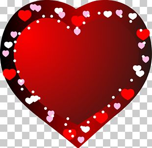 Hand-painted Red Heart-shaped Pink Heart-shaped Black PNG