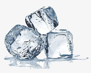 Three Ice Cubes PNG