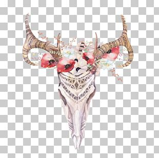 Deer Antler Bohemianism Skull Boho-chic PNG