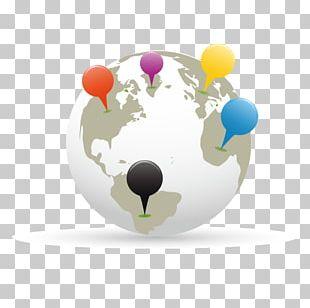 Globe World Map Paper Pin PNG