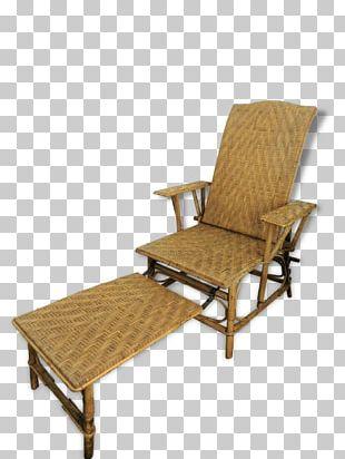 Chaise Longue Deckchair Wicker Fauteuil PNG