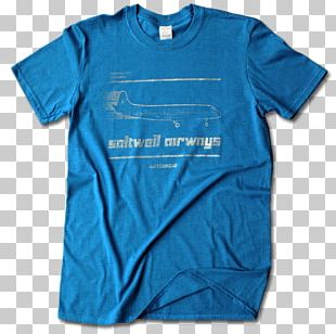 T-shirt Clothing Sleeve Blue PNG