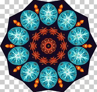 Kaleidoscope Symmetry Circle Organism Pattern PNG