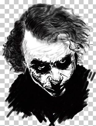 Joker Batman Black And White The Dark Knight Returns PNG