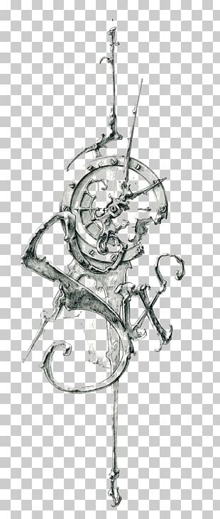 Tattoo Clock Drawing Work Of Art Sketch PNG
