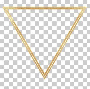 Triangle Gold Pin Line PNG