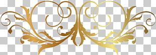 Florid Victorian Ornament Decorative Arts Pattern PNG