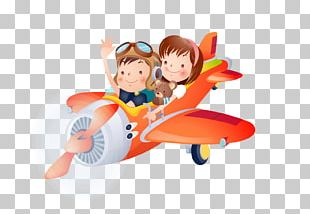 Airplane Child Cartoon PNG