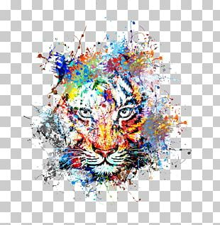 Tiger Abstract Art Drawing Painting PNG