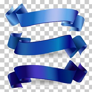 Awareness Ribbon Blue Ribbon Web Banner PNG