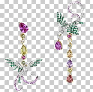 Earring Bird Van Cleef & Arpels Jewellery Diamond PNG