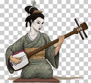Japan Shamisen Musical Instruments String Instruments PNG