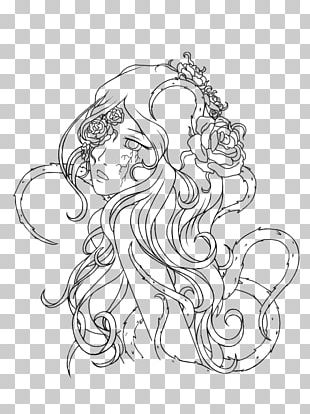 Line Art Drawing Visual Arts Rose PNG