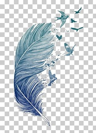 Bird Feather Printmaking Tattoo Printing PNG