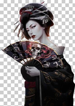 Geisha Concept Art Drawing Painting PNG