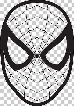 Spider-Man Drawing Face Coloring Book PNG