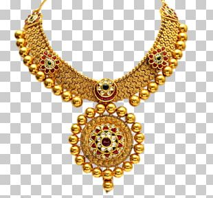 Jewellery Gold Necklace Pendant PNG
