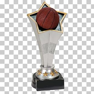 Trophy Award Commemorative Plaque Medal Basketball PNG