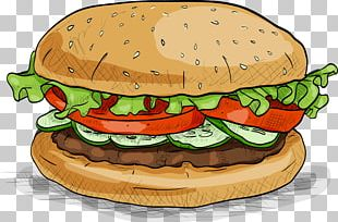 Hamburger Fast Food Veggie Burger PNG
