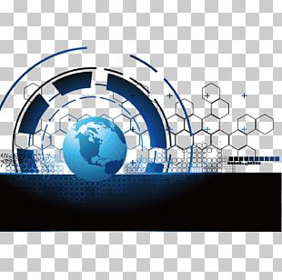 Blue Earth Technology Background PNG