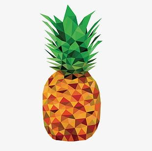 Three-dimensional Pineapple Decoration PNG