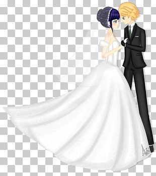 Adrien Agreste Marinette Dupain-Cheng Bride Wedding Dress Marriage PNG