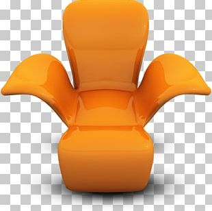 Orange Table Chair PNG