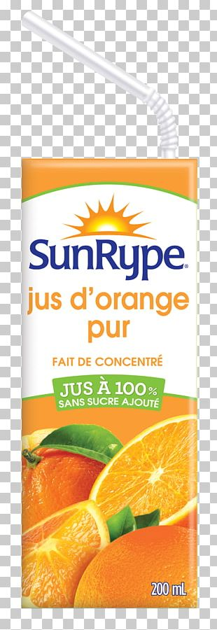 Orange Juice Vegetarian Cuisine Orange Drink Sun-Rype PNG