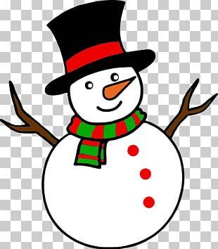 Snowman Cartoon Mural PNG