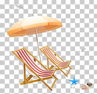Chair Beach Umbrella PNG