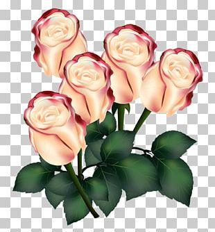 Garden Roses Flower Bouquet Wedding Invitation Pink PNG