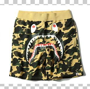Trunks T-shirt A Bathing Ape Shark Shorts PNG