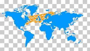 World Map Wall Decal Sticker PNG