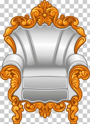 Throne Wing Chair Fauteuil Furniture PNG