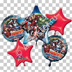 Balloon Spider-Man Party Birthday Flower Bouquet PNG