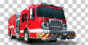 Fire Brigade Truck Side PNG
