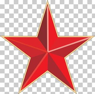 Red Gold Star PNG