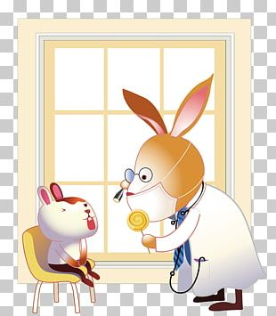 Rabbit Easter Bunny Physician Dentist Illustration PNG