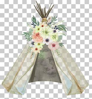 Wedding Invitation Baby Shower Tipi Glamping Dreamcatcher PNG