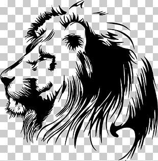 Lion Stencil PNG